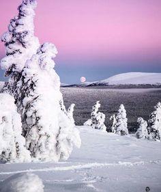 Winter lake in Ylläs, Lapland, Finland