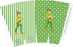 Peter Pan - Complete Kit with frames for invitations, labels for snacks, souvenirs and pictures! | Making Our Party