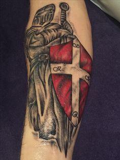 Templar knight tattoo