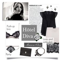 """Maison Close - Hôtel Diva"" by blueberrylexie ❤ liked on Polyvore featuring Rebecca Minkoff, Maison Close, Proenza Schouler, Givenchy, Lulu Frost, Topshop, lingerie and maisonclose"