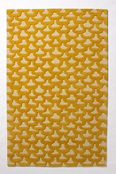 Yellow rug- like the abstract but structure pattern.  I love anything yellow...