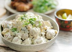 Best Ever Potato Salad, Best Potato Salad Recipe, Salad Recipes With Bacon, Lunch Restaurants, Veggie Kabobs, Cooking Recipes, Healthy Recipes, Barbecue, Side Dishes