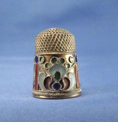 Antique Russian Silver with Enamel Thimble | eBay