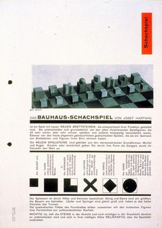 Josef Hartwig, Manual for Bauhaus Chess, Design: Herbert Bayer Herbert Bayer, History Class, Design History, Walter Gropius, Could Play, Book Layout, Berlin, Chess, Multimedia
