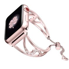 Buy Secbolt Bling Bands Compatible with Apple Watch Band iwatch Series Stainless Steel Dressy Jewelry Diamond Bracelet Bangle Wristband Women, Rose Gold Metal Bracelets, Bangle Bracelets, Apple Watch Wristbands, Apple Watch Bands Fashion, Watches For Men, Men's Watches, Diamond Jewelry, Series 4, Bling