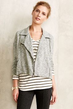 Marled Moto Jacket - anthropologie.com