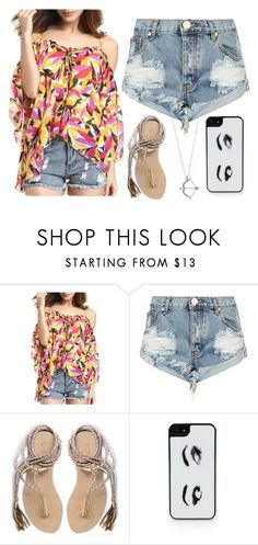 """Summer vibes are rattling through my bones"" by hazelnut2002 ❤ liked on Polyvore featuring One Teaspoon, L*Space and Kate Spade"