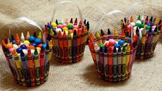 Create this cute crayon favor bucket for your birthday party!