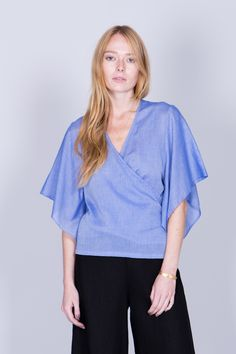 'Melena' soft wrap/kimono blouse by Swedish designer brand Rodebjer︱ www.grandpa.se︱ Scandinavian fashion and home decor︱ Shipping to Europe and the US