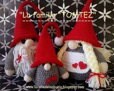"""¿Os acordáis de La familia """"Tomtez""""?Si, si... esos gnomos tan graciosos que vinieron a visitarme la Navidad pasada. ¿Os gustaron?... Pues en próximas entradas os voy a ir dejando los patrones y si os"""