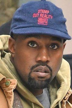 Kanye West wearing  Brain Dead Mohair Snapback Cap Hat