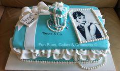 Breakfast at tiffanys sweet 16 cake audrey hepburn 60 ideas Tiffany Blue Cakes, Tiffany Theme, Tiffany Birthday Party, Tiffany Party, Sweet 16 Cakes, Cute Cakes, 30th Birthday Cake For Women, 31st Birthday, Audrey Hepburn Cake