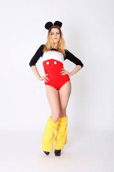 Mickey Minnie Costume HalloweenNOT mickey by BelovedLeggings
