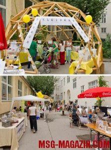Außenbereich - Hungerzone, Workshops und Kleidertauschbörse