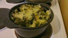 Dann gabs noch ein kleines Brokkoli-Tofu-Gratin mit Wilmersburger überbacken. Mhhhhh das hätte ich jetzt auch gerne!