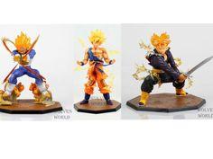34.84$  Buy here  - 3pcs/set Anime Dragon Ball Z Super Saiyan Goku Trunks Vegeta Battle Version Boxed PVC Action Figure Model Collection Toys
