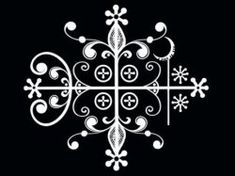 "A Veve is a religious symbol for a vodou ""loa"" (or lwa) and serves as their representation during rituals. In Haiti, the veve derives from the. Papa Legba, Aleister Crowley, Zentangle, Travel Baby Showers, Voodoo Hoodoo, Magic Symbols, Nordic Symbols, Religious Symbols, Mandala"