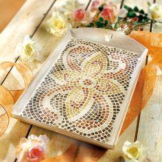"""©efco-freizeit-engel.de - Mosaik-Tablett basteln (Idee mit Anleitung – Klick auf """"Besuchen"""")"""