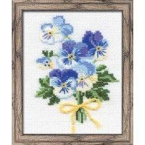 Violas Tussie Mussie Counted Cross Stitch Kit
