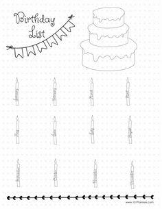FREE Bullet Journal/Planner Printable: Birthday Tracker