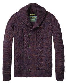 Chunky Knit Melange Cardigan