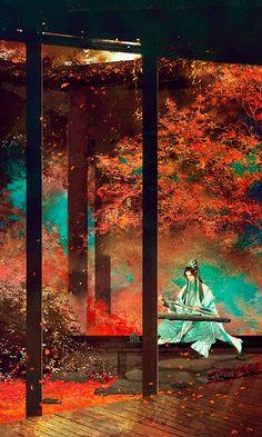 Haulé's home in Teon Wu. Fantasy Landscape, Fantasy Art, Art Asiatique, Fantasy Places, China Art, Anime Scenery, Ancient Art, Japanese Art, Concept Art