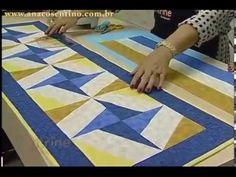 Patchwork com Ana Cosentino: Caminho de Mesa Catavento (Programa Vitrine na Tv) - YouTube