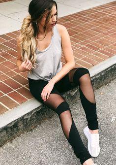 Make It Work Mesh Leggings in Black