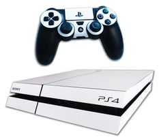 PS4 Skin EXCLUSIVE Pure White Skin with 2 Controller Skins Playstation 4