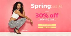 Spring Sale! Up to 30% Off Select Styles