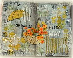 Kath's Blog......diary of the everyday life of a crafter: Simon Says - Whatever The Weather Doodle Art Journals, Art Journal Pages, Journal Ideas, Tim Holtz Stamps, Mixed Media Scrapbooking, Ranger Ink, Easter Projects, Creative Journal, Distressed Painting