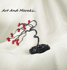 Handmade Shop, Handmade Gifts, Artistic Tree, Bonsai Wire, Wire Tree Sculpture, Valentine Day Gifts, Valentines, Metallic Colors, Wire Art