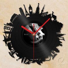 vinyl wall clock  Around the world por Anantalo