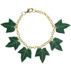 Ivy Bracelet ❤ liked on Polyvore featuring jewelry, bracelets, laser cut acrylic jewelry, lucite bangle, ivy jewelry, acrylic jewelry and chunk charms