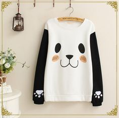 Cute panda pattern sweater