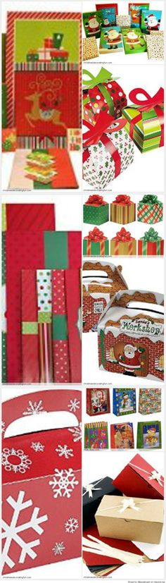 Christmas Gift Boxes - Discover how to decorate extra large Christmas gift boxes. You don't want your Christmas gift boxes to be just the plain gifts under the Christmas tree. Add that special something to each gift box.