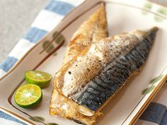 Easy baked mackerel - just olive oil, salt, pepper and bake.  Ryan caught some Mackerel this morning, so this is how I shall prepare them!  :)