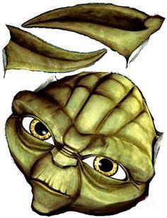 Yoda Cake Template:                                                                                                                                                                                 More