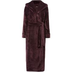 Linea Supersoft Robe ($63) ❤ liked on Polyvore featuring intimates, robes, grape, women, dressing gown and bath robes