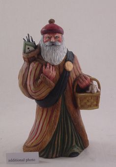 """Scottish Santa with Bag of toys ... via this Etsy store, """"Elements of Fine Living""""."""