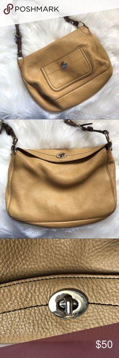 c54df42b37 COACH Chelsea Hobo Shoulder Handbag Women s Tan Pebbled Leather COACH  Chelsea C06S-8A38 Small Hobo