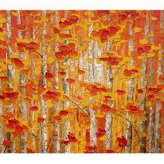 Aucun Cadre Peint À La Main Bouleau Arbre Mur Peinture Paysage Toile Peinture Décoration Photos Mur Photo Pour Salon