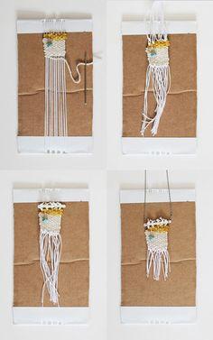 DIY: woven necklace