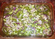 (Shrimp Cooked in Lime and Chile) Aguachile is a traditional dish from the state of Sinaloa, Mexico where originally they . Seafood Dishes, Seafood Recipes, Mexican Food Recipes, Cooking Recipes, Seafood Meals, Mexican Kitchens, Mexican Dishes, Healthy Snacks, Healthy Recipes
