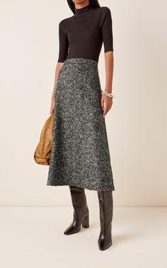 Plaid Wool Skirt, Tweed Skirt, Wool Skirts, Office Skirt Outfit, Skirt Outfits, Modest Outfits, Winter Skirt, A Line Skirts, Midi Skirts