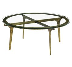 Colton Cocktail Table  Contemporary, Transitional, MidCentury  Modern, Art Deco, Glass, Metal, Coffee  Cocktail Table by Interlude Home
