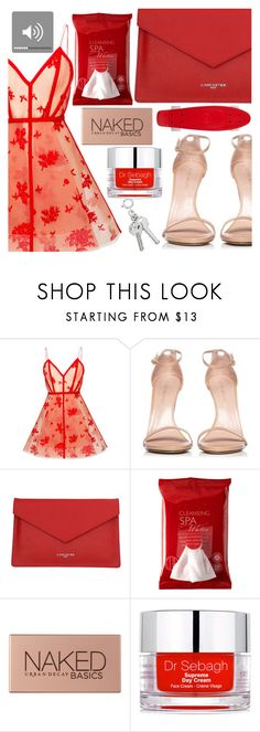 """""""Party all night sleep all day"""" by floralandmay ❤ liked on Polyvore featuring Alex Perry, Stuart Weitzman, Lancaster, Koh Gen Do, Urban Decay and Dr. Sebagh"""