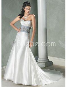 silver and light ivory draped bodice wedding dress | Wedding ...