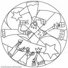 osserva i pin correlati Christmas Activities, Christmas Printables, Christmas Projects, Noel Christmas, Christmas Colors, Christmas Decorations, Christmas Mandala, Printable Coloring Pages, Colouring Pages