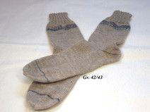 Socken Gr. 42/43 hellbraun